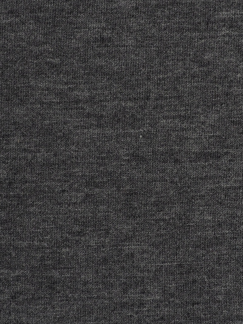 Organic Cotton & Bamboo Light Weight Stretched Heather Jersey Fabric ( KJ40C830 Dark Grey Heather )