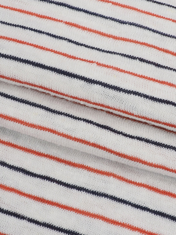 Hemp, Organic Cotton & Recycled Poly Light Weight Stripe Jersey ( KJ13824-7 )