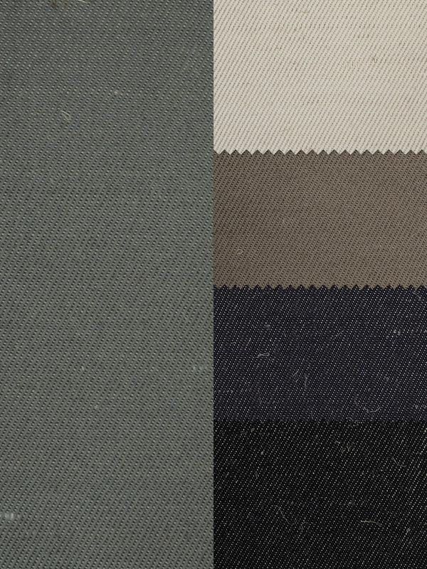 Hemp & Recycled Polyester Mid-Weight Twill ( PH100C261B )