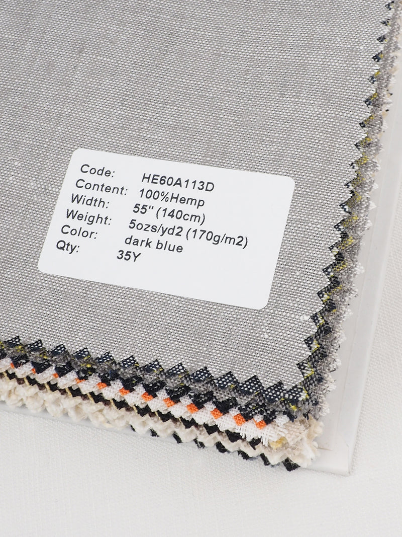 Pure Hemp Woven Fabric Swatch Book