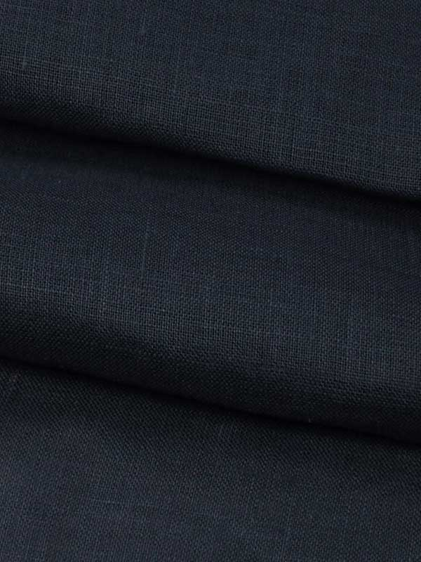 Pure Hemp Light Weight Muslin Fabric(HE105A Navy Blue)