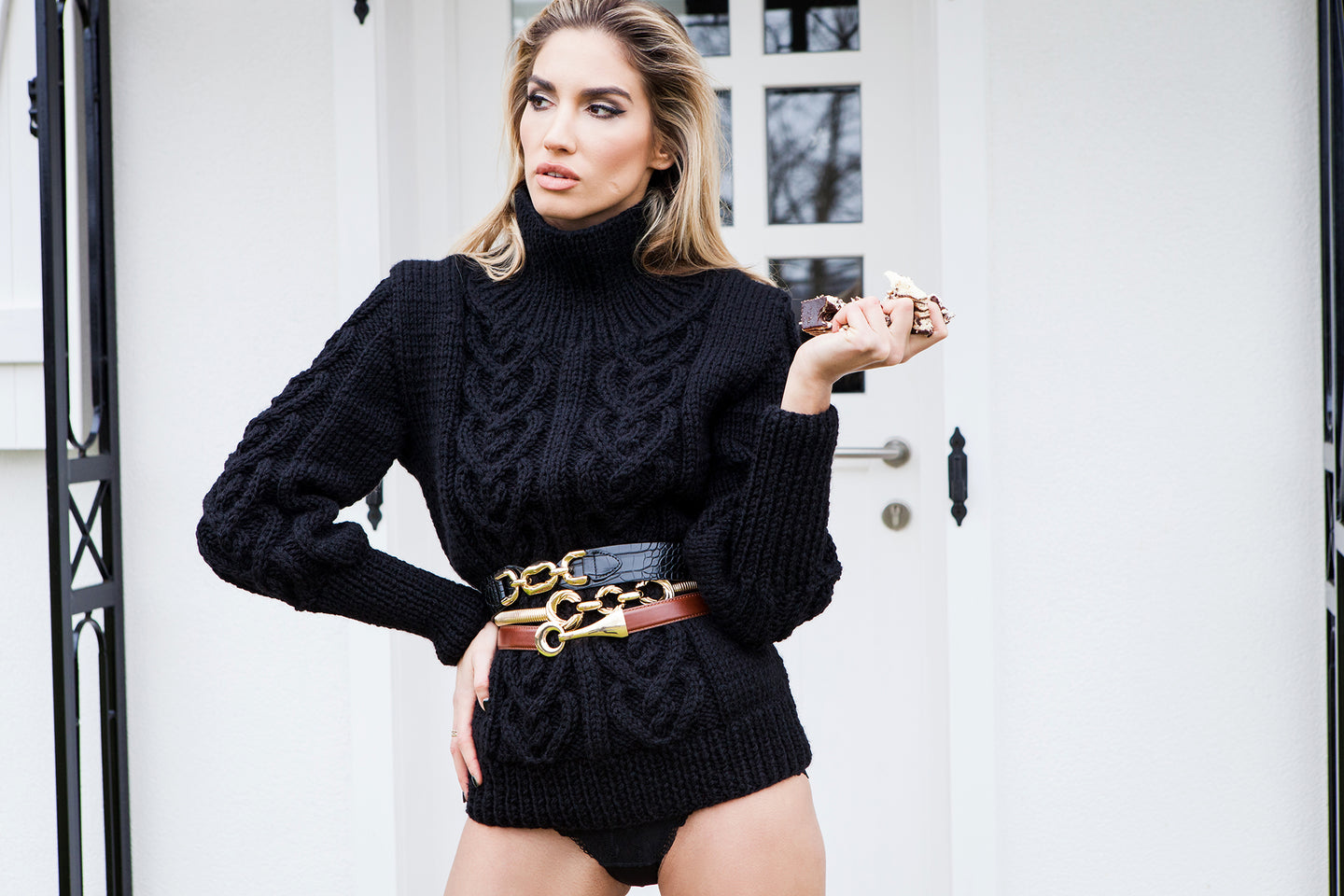 Only Love jumper in black