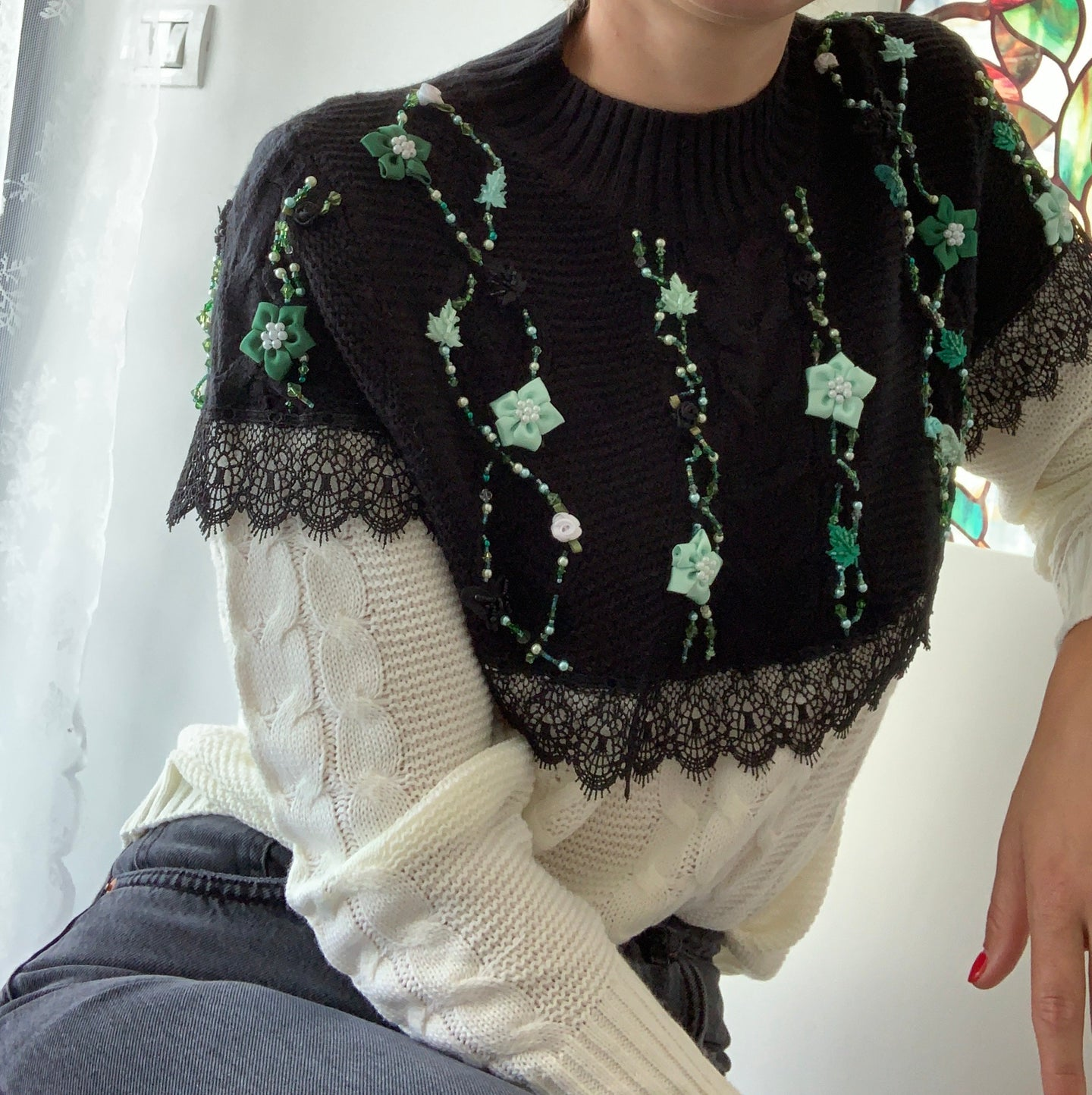 """Green with envy"" jumper"