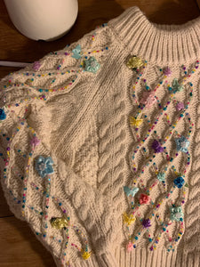 Rose jumper in rainbow