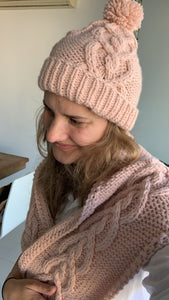 Erin hat dusty pink