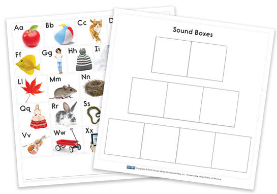ABC Chart/Sound Box Card - set of 6