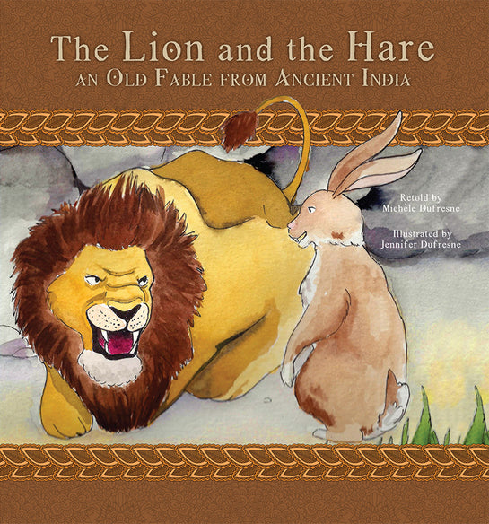 The Lion and the Hare, an Old Fable from Ancient India