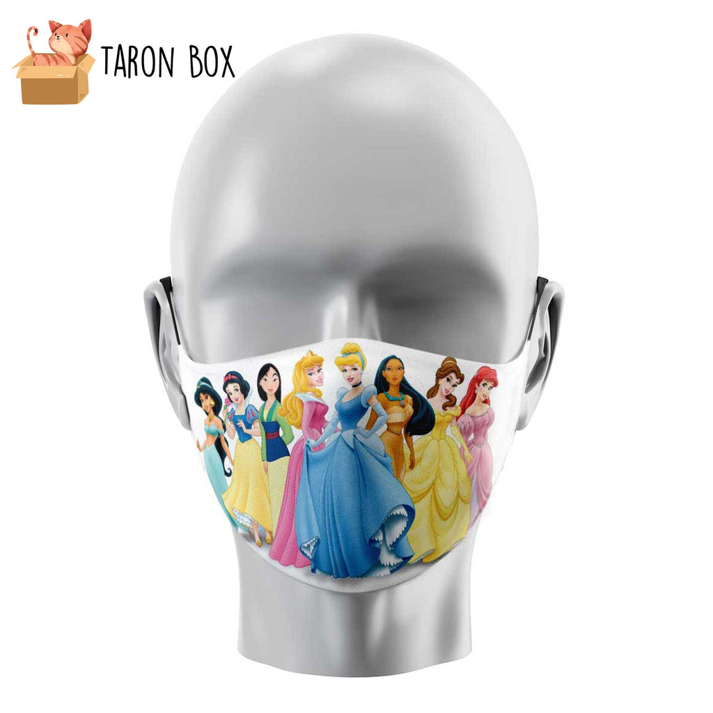 Mascarilla reutilizable Princesas Disney