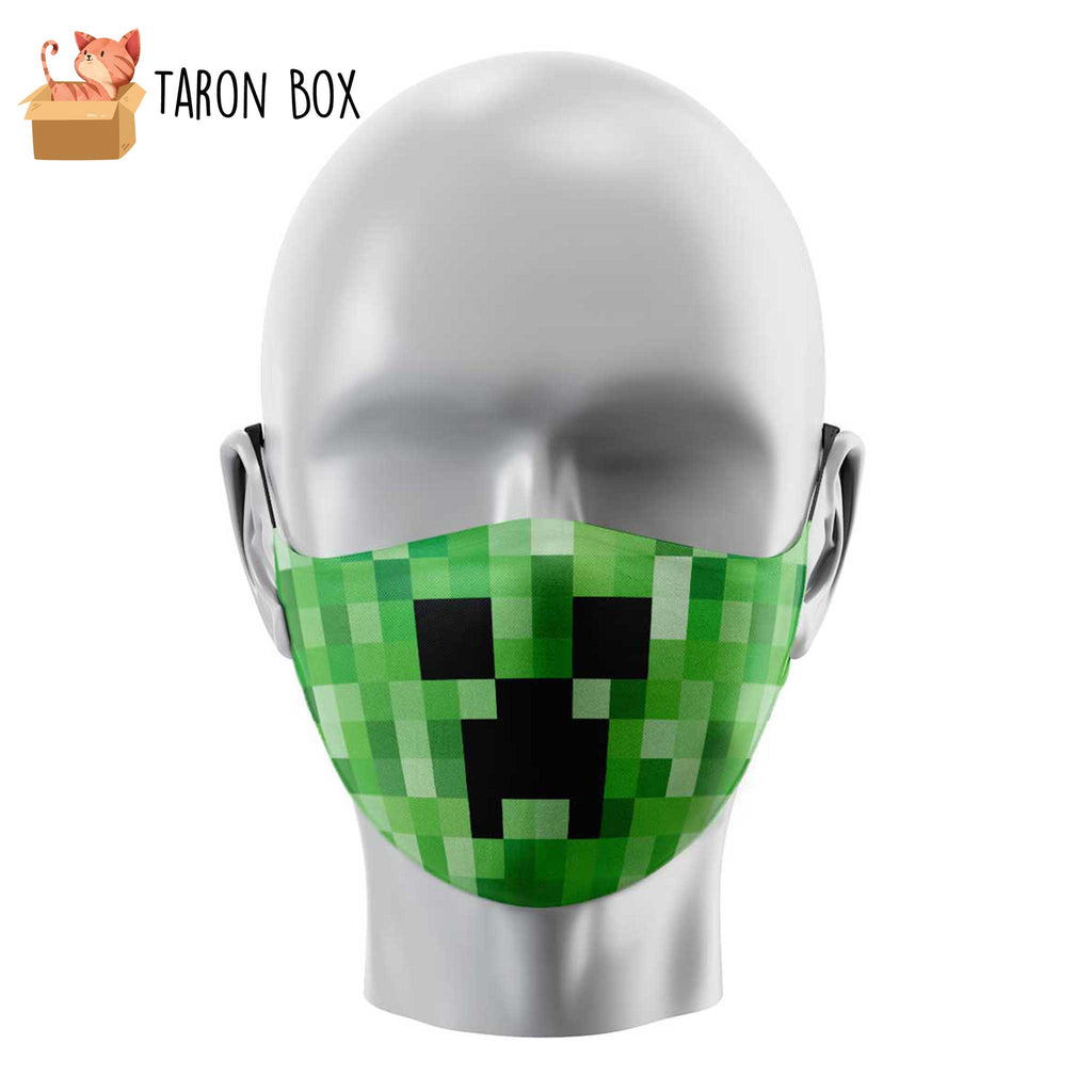 Mascarilla reutilizable Creeper Minecraft