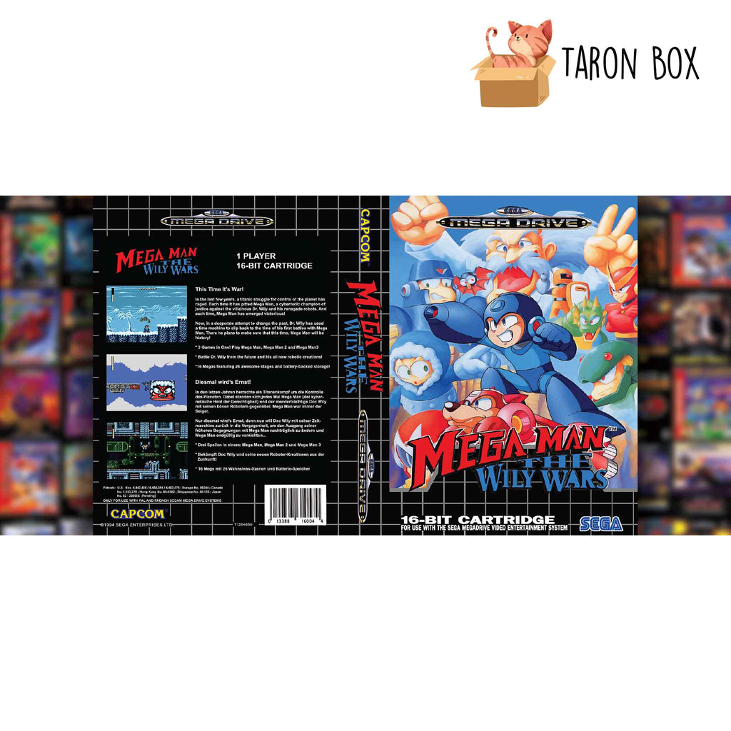 Taza MEGA DRIVE Mega Man The Wily Wars