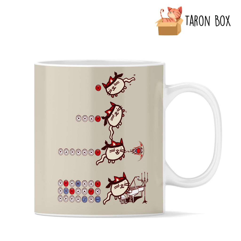Taza gato Street Fighter - taron-box
