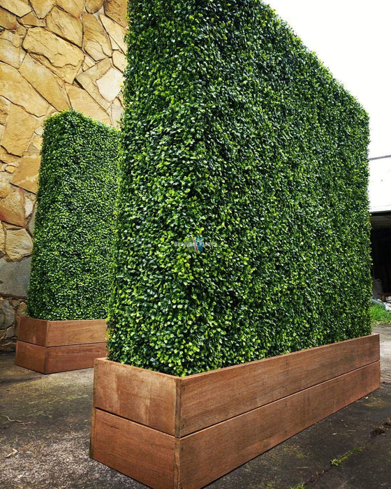 Artificial Boxwood Panels Topiary Hedge Plant UV Protected Privacy Screen Faux Greenery Mats for Both Outdoor or Indoor Decoration