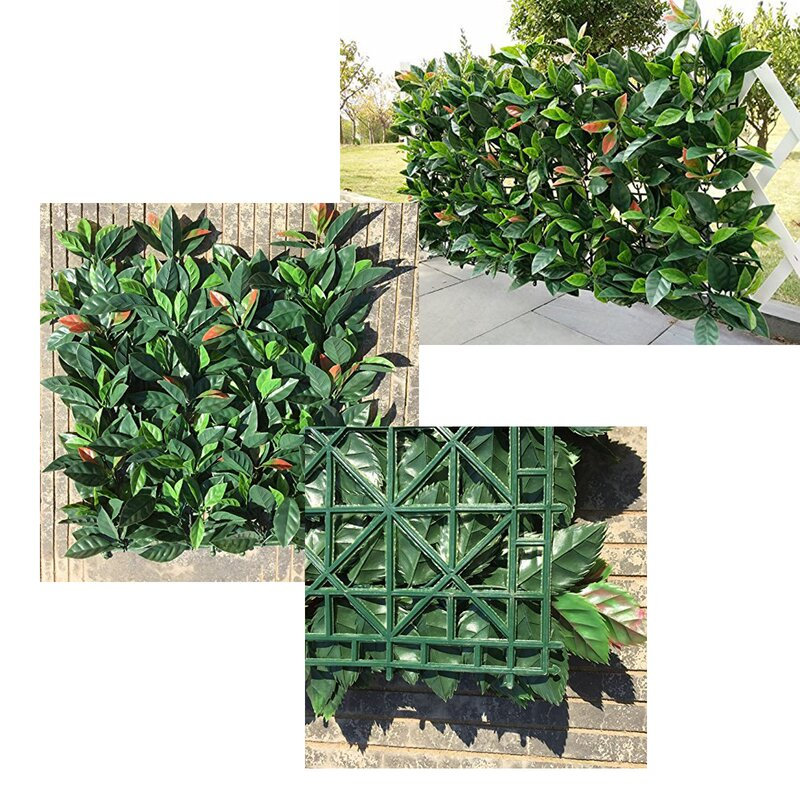 "20"" H x 20"" W Artificial Hedge Plant Privacy Fencing Greenry Mats for Indoor and Outdoor Decoration"
