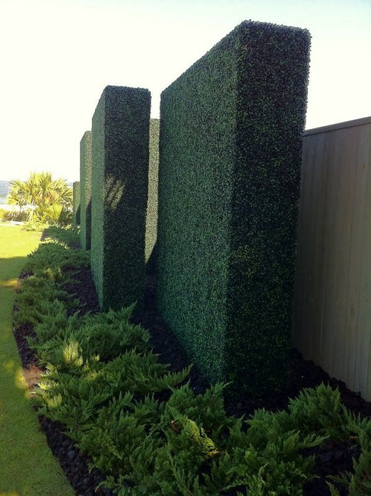 "Customized-Artificial Boxwood Panels Topiary Hedge Plant UV Protected Privacy Screen Outdoor Indoor Use Garden Fence Backyard Home Decor Greenery Walls - 20"" x 20"" inch Style B"