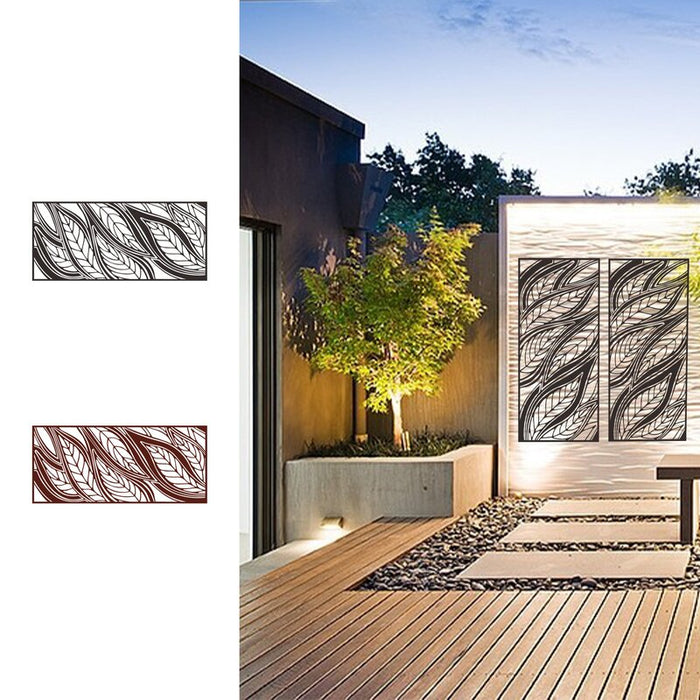 2 ft. H x 4 ft. W Laser Cut Privacy Metal Fence Panel Laser Cut Decorative Steel Privacy Panel Metal Fencing