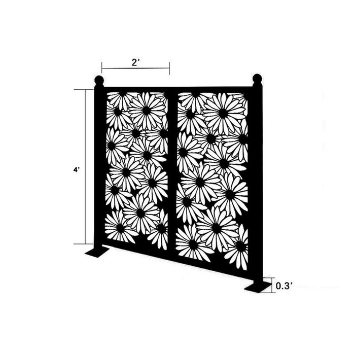 4.3 ft. H x 4.4 ft. W Freestanding Modular Metal Fence Panel
