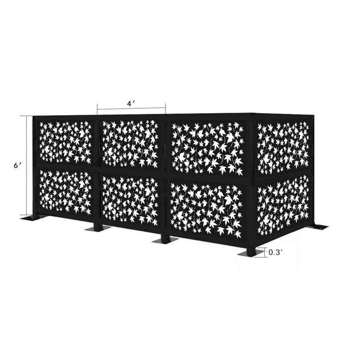 4.3 ft. H x 12.6 ft. W Freestanding Modular Metal Privacy Screen
