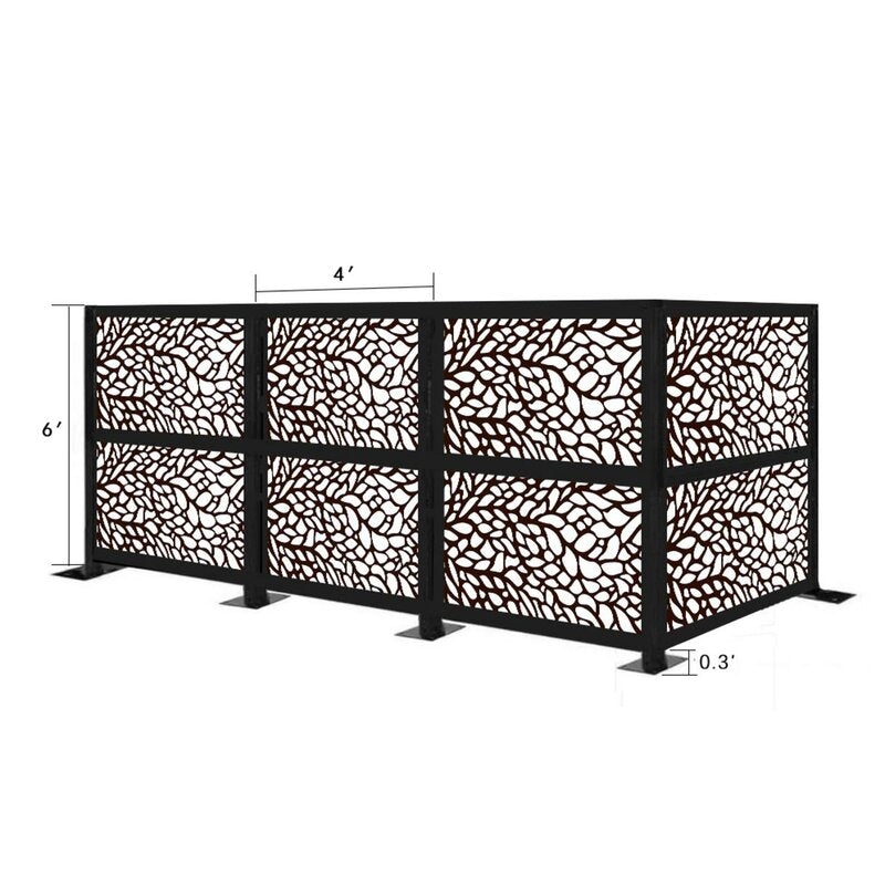 4.3 ft. H x 12.3 ft. W Freestanding Modular Metal Privacy Screen