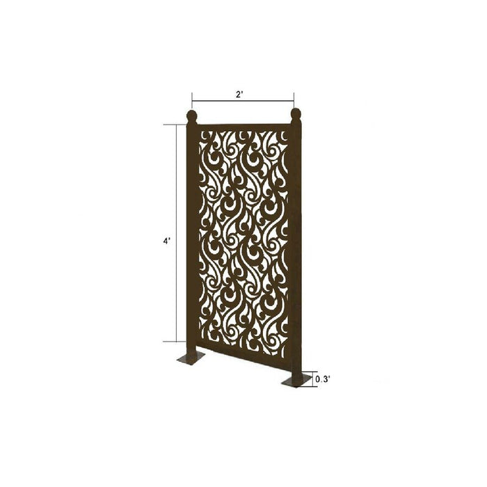 4.3 ft. H x 2.4 ft. W Freestanding Modular Metal Privacy Screen