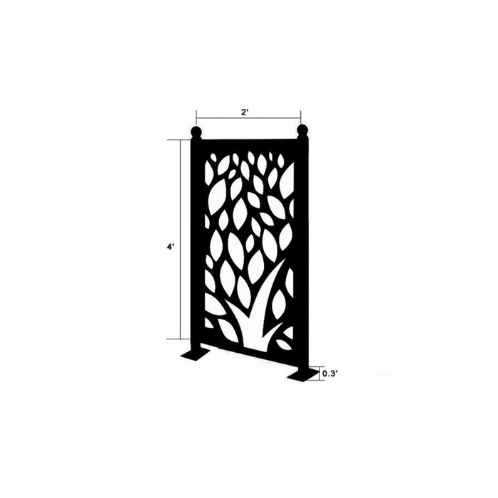 4.3 ft. H x 2.4 ft. W Freestanding Modular Metal Fence Panel