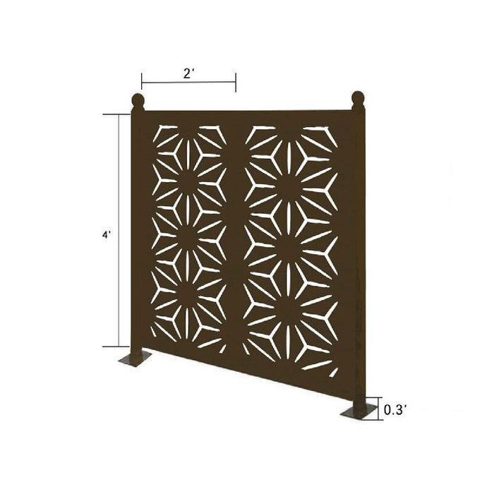 4.3 ft. H x 4.4 ft. W Freestanding Modular Metal Privacy Screen