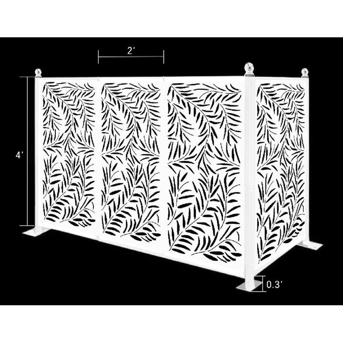 4.5 ft. x 6.4 ft. Freestanding Modular Metal Privacy Screen