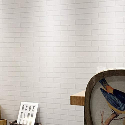 "27.5"" x 27.5"" 3D Wall Panels, Peel and Stick Wall Sticker DIY Wallpaper for Interior Design, New Brick Style Wall Decoration"