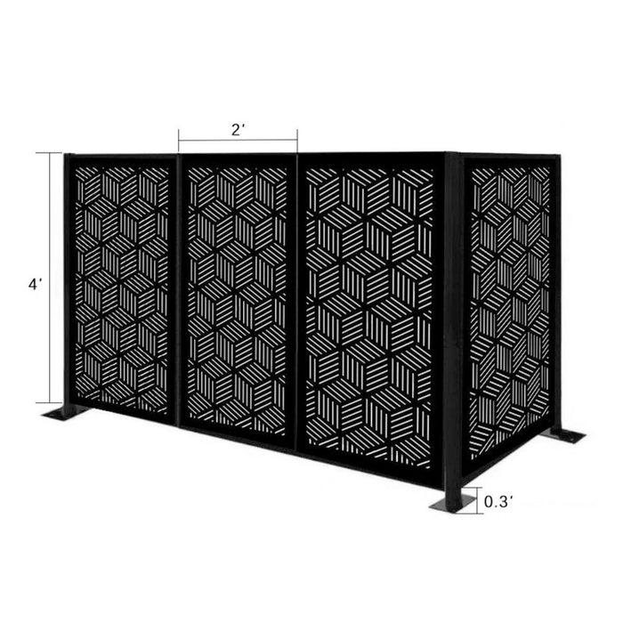4.3 ft. H x 6.3 ft. W Freestanding Modular Metal Privacy Screen