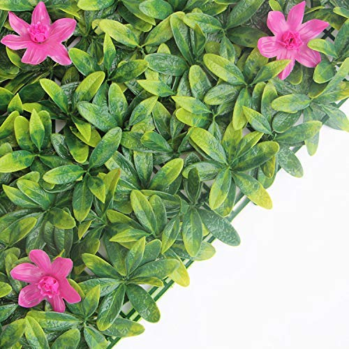 Artificial Hedge Plant,Topiary Screen Panels, UV Resistant Faux Privacy Greenery Fence, Eco Artificial Hedge Wall Panels for Garden, Backyard, Indoor and Outdoor Decoration