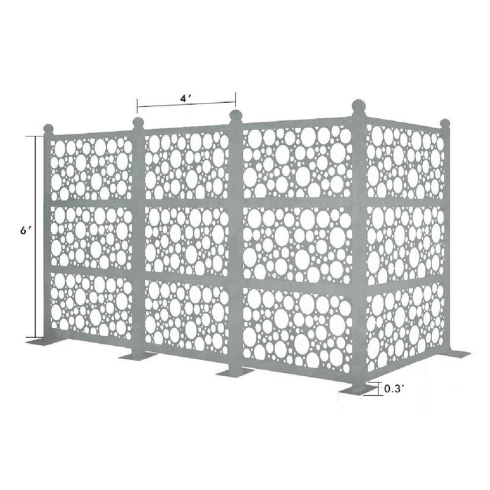6.3 ft. H x 12.6 ft. W Freestanding Modular Metal Privacy Screen