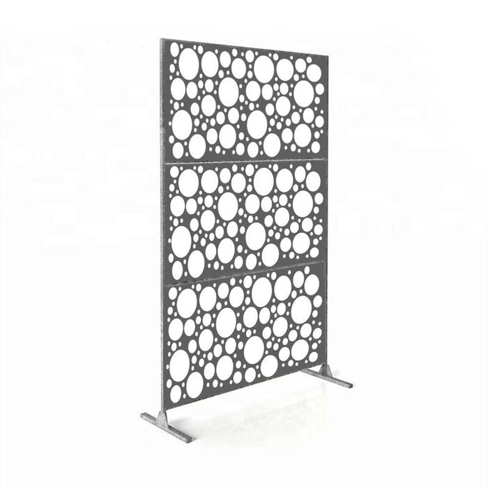 6 ft. H X 4 ft. W Laser Cut Metal Privacy Screen