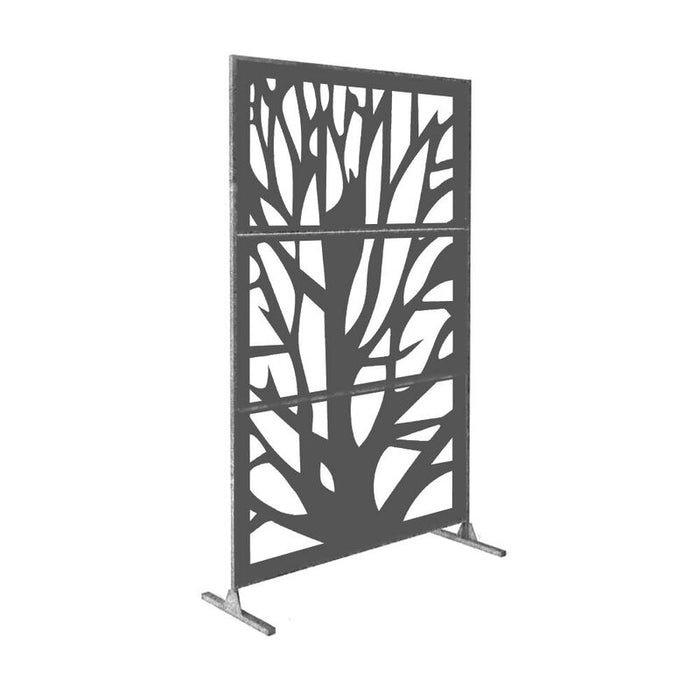 6 ft. H x 4 ft. W Laser Cut Metal Fence Panel