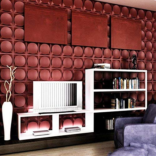 PVC Textured 3D Wall Panels, Brick Design Wall Decoration