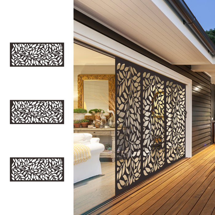4' H x 2' W Laser Cut Metal Privacy Screen Fence, Metal Tree Metal Wall Art, Outdoor Indoor Privacy, Panel, Garden Screen, Restaurant Decor