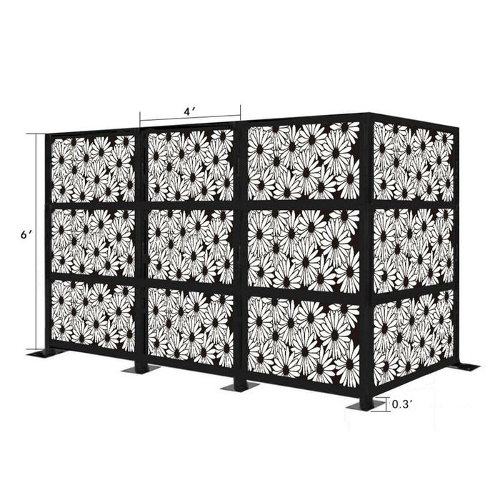 6.3 ft. H x 12.3 ft. W Freestanding Modular Metal Privacy Screen