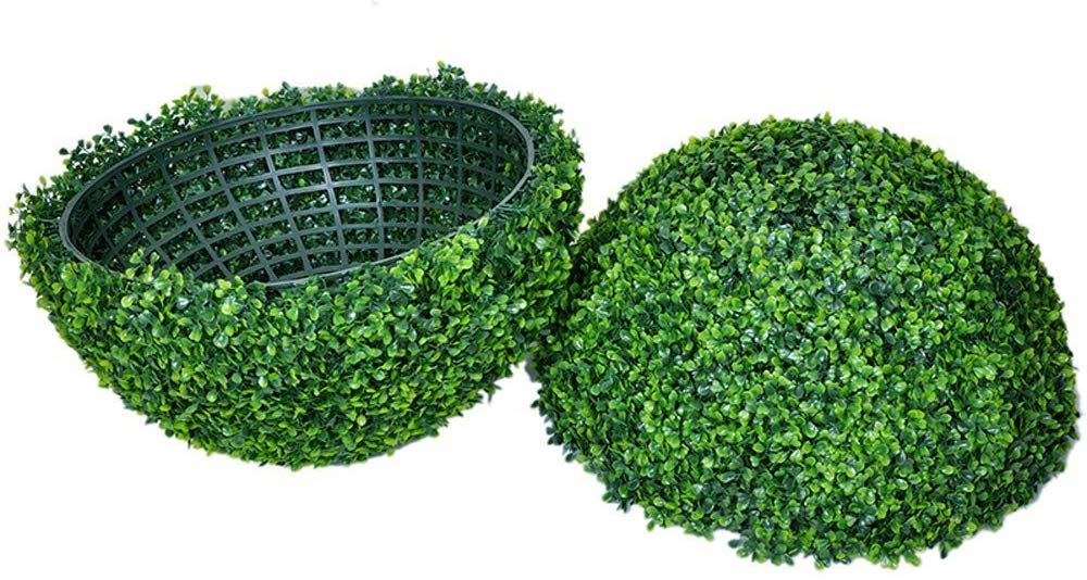 Decorative Artificial Milan Boxwood Ball, Artificial Boxwood Topiary Ball, Suitable for Both Outdoor or Indoor, garden, Home Décor, Weddings and other Special Events