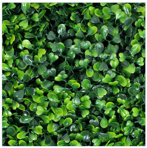 E-Joy Artificial Topiary Hedge Plant , Suitable for Both Outdoor or Indoor use, Garden, Backyard , Milan leaf Artificial Hedge 20 x 20 Inch