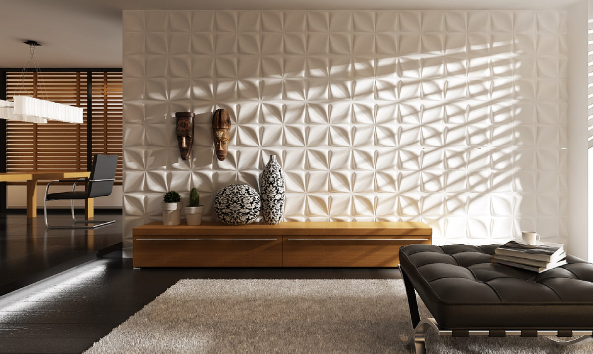"20"" x 20"" 3D Wall Panel (Fiber) Design/Textured Eco Friendly Modern Wall Decor for TV Walls/Bedroom/Living Room Sofa"