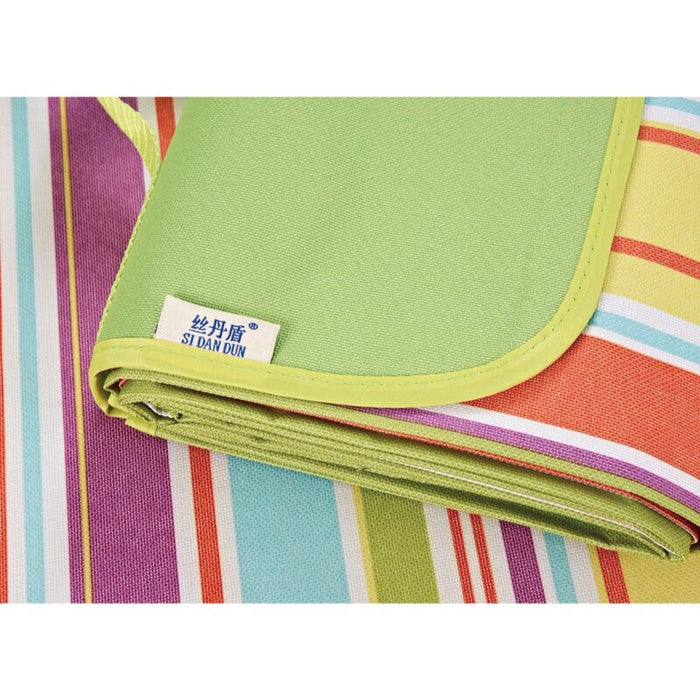 Outdoor Beach Picnic Blanket with Waterproof Backing, Portable Machine Washable Mat