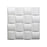 "19.7"" x 19.7"" 3D Decorative Wall Panels/Paintable Plant Friendly Modern Wall Decoration"