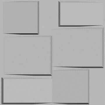 "FL customize- 12 Pcs 20"" x 20"" PVC Textured 3D Wall Panels Brick Design Wall Decoration"
