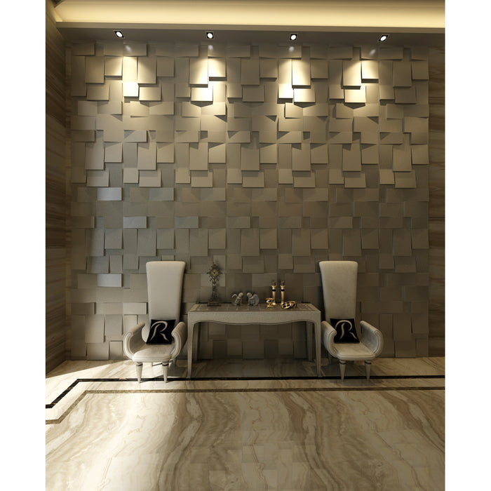 "3D Embossed/Paintable Wall Panels for Interior Decoration (19.7"" L x 19.7"" W)"