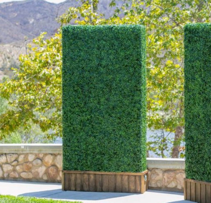 "Artificial Boxwood Panels Topiary Hedge Plant UV Protected Privacy Screen Outdoor Indoor Use Garden Fence Backyard Home Decor Greenery Walls Pack of 12 Pieces 20"" x 20"" inch Mix of Light and Dark Greeneen"
