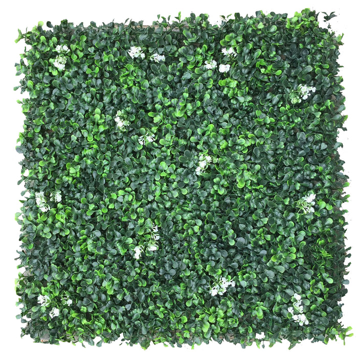 "Customize-Artificial Boxwood Panels Topiary Hedge Plant UV Protected Privacy Screen Outdoor Indoor Use Garden Fence Backyard Home Decor Greenery Walls Pack of 20"" x 20"" inch"