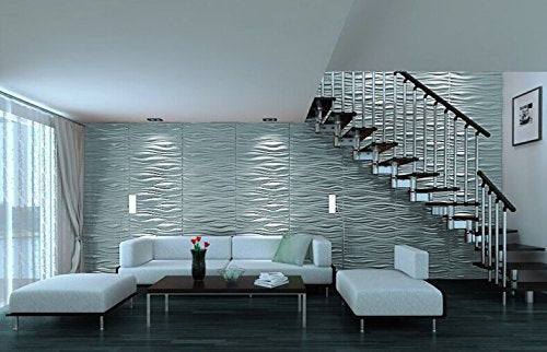 3D Wall Panel (Fiber) Design/Textured Eco Friendly Modern Wall Decor for TV Walls/Bedroom/Living Room Sofa
