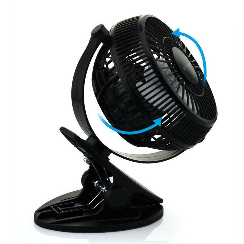"Black Rechargable Clip 4"" Personal Fan Battery Operated USB Portable for Office,Home,Travel,Camping"