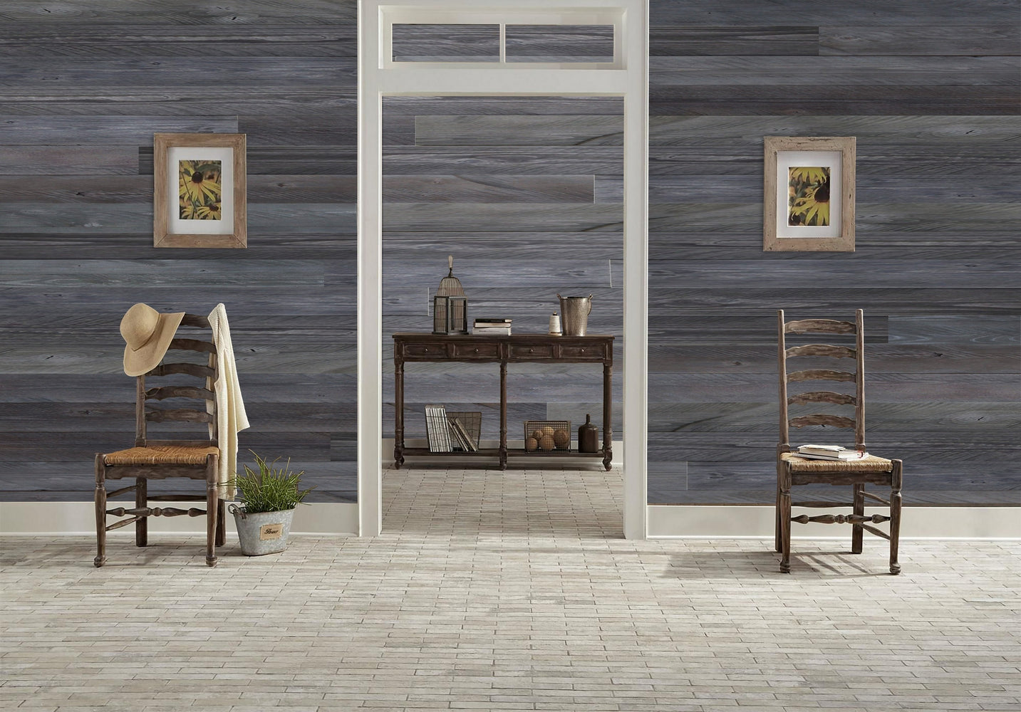 Self Adhesive Wall Panels Peel & Stick Rustic Reclaimed Barn Wood Paneling (Style: C19)