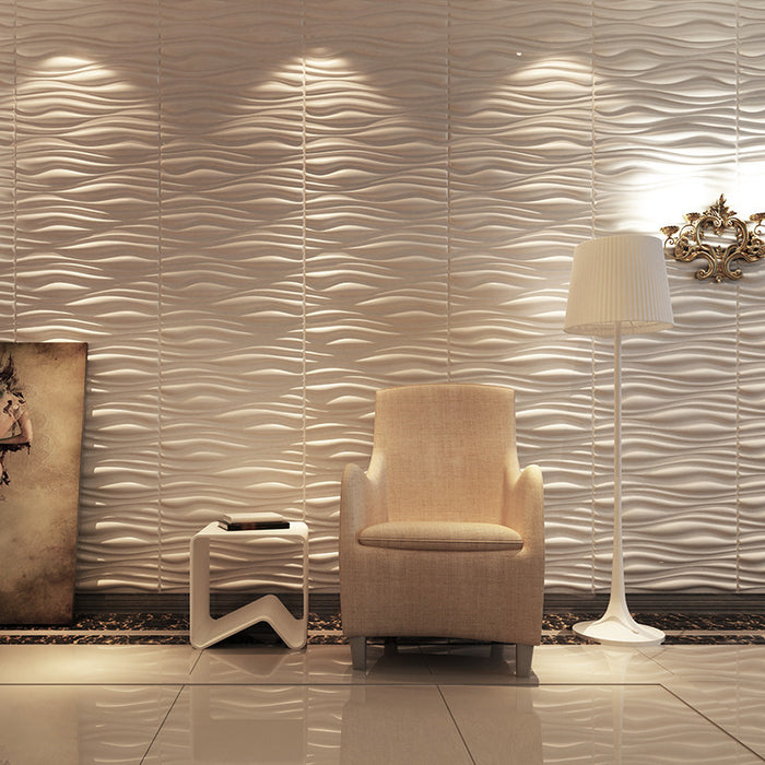 Fl customer PVC Textured 3D Wall Panels, Brick Design Wall Decoration
