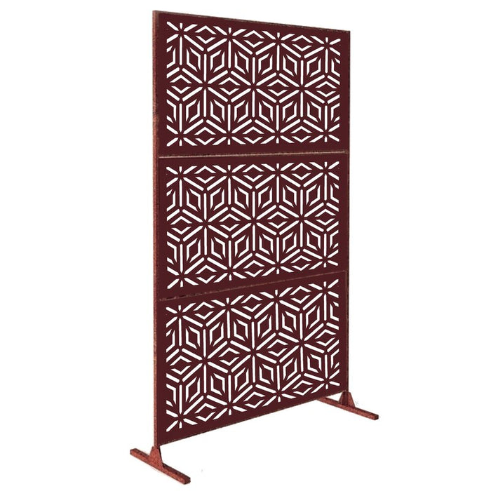6' H x 4' W Laser Cut Metal Privacy Screen