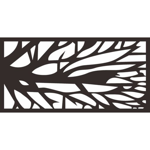 4 ft. H x 2 ft. W Laser Cut Metal Privacy Screen